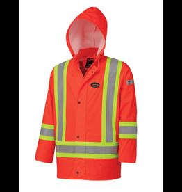 FR PU Rain Jacket, FR Tape CSA -Z96-09..Orange