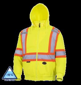 Hi-vis polyester fleece hoodie