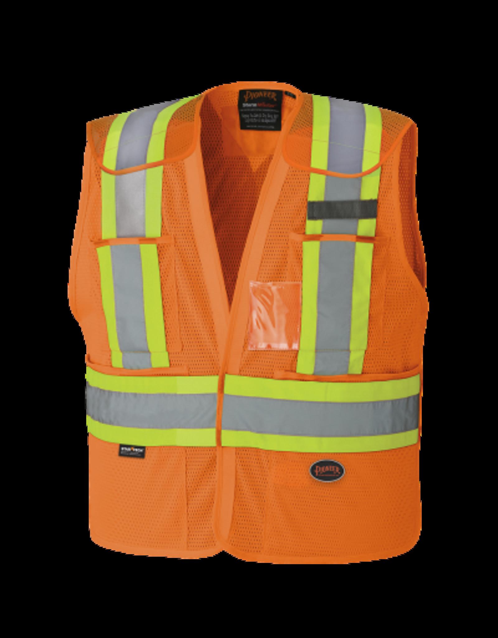 HI-VIZ Drop Shoulder Safety Tear-Away Vest -Poly Mesh