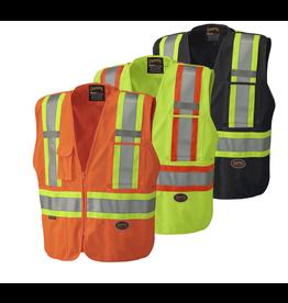 Tricot Ploly Interlock Mesh back Safety Vest