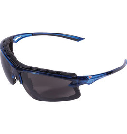 Dynamic Translucent Blue Frame Glasses with Foam