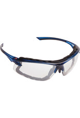 Dynamic Translucent Blue Frame Glasses with Foam