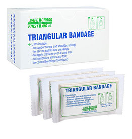 "Triangular Bandage, 101.6 x 101.6 x 142.2 cm (40"" x 40"" x 56""), Compressed, 3/Unit Box"