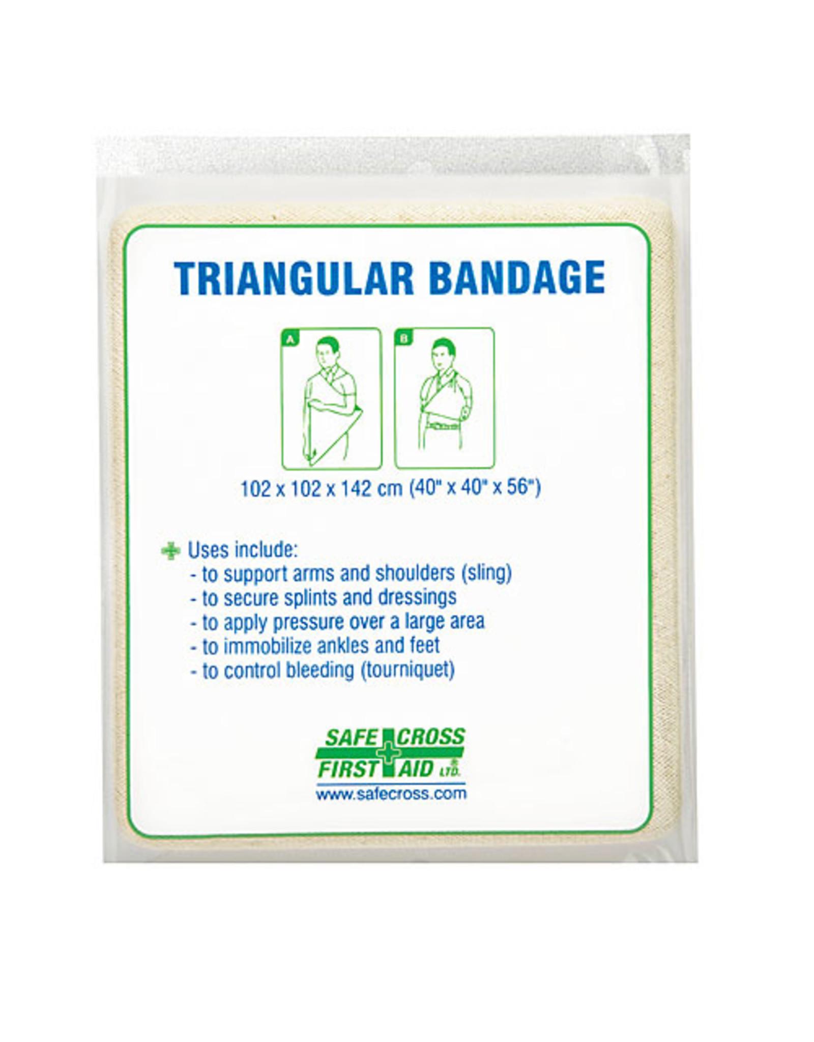 "Triangular Bandage, 101.6 x 101.6 x 142.2 cm, (40"" x 40"" x 56"") Non-Compressed"