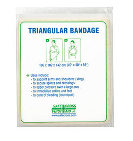 "Triangular Bandage, 101.6 x 101.6 x 142.2 cm, (40"" x 40"" x 56"") Non-Compressed"
