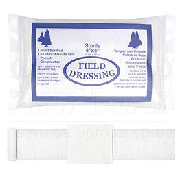 Compress(Pressure)Bandages, Field Dressing 10.2 X 10.2 cm (4X4)