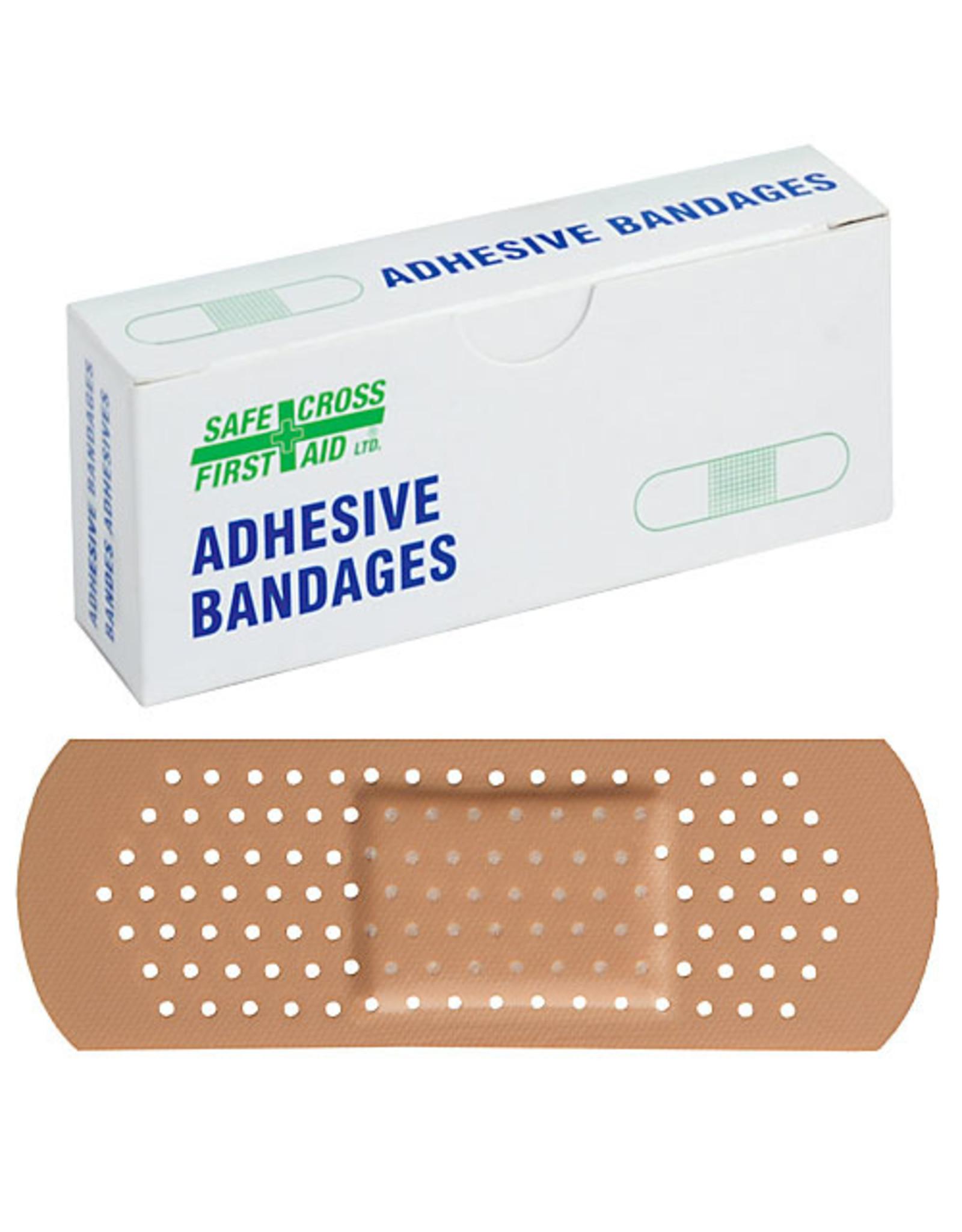 Plastic Bandages, 2.5 x 7.6 cm, 16/Unit Box