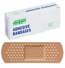 Plastic Bandages, 2.5 x 7.6 cm, 16/Unit Box