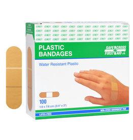 Plastic Bandages, 19 x 7.6cm, 100's