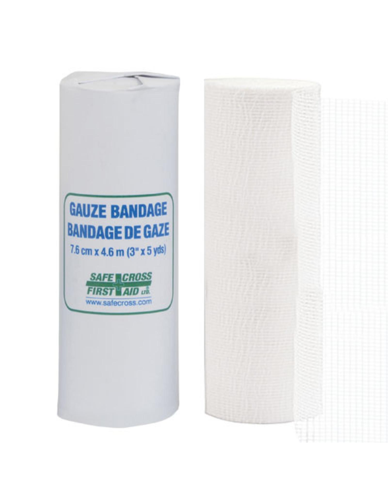 Gauze Bandage Roll, 7.6cm x 4.6m