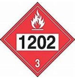 1202 (Diesel Fuel) Placard - Plastic