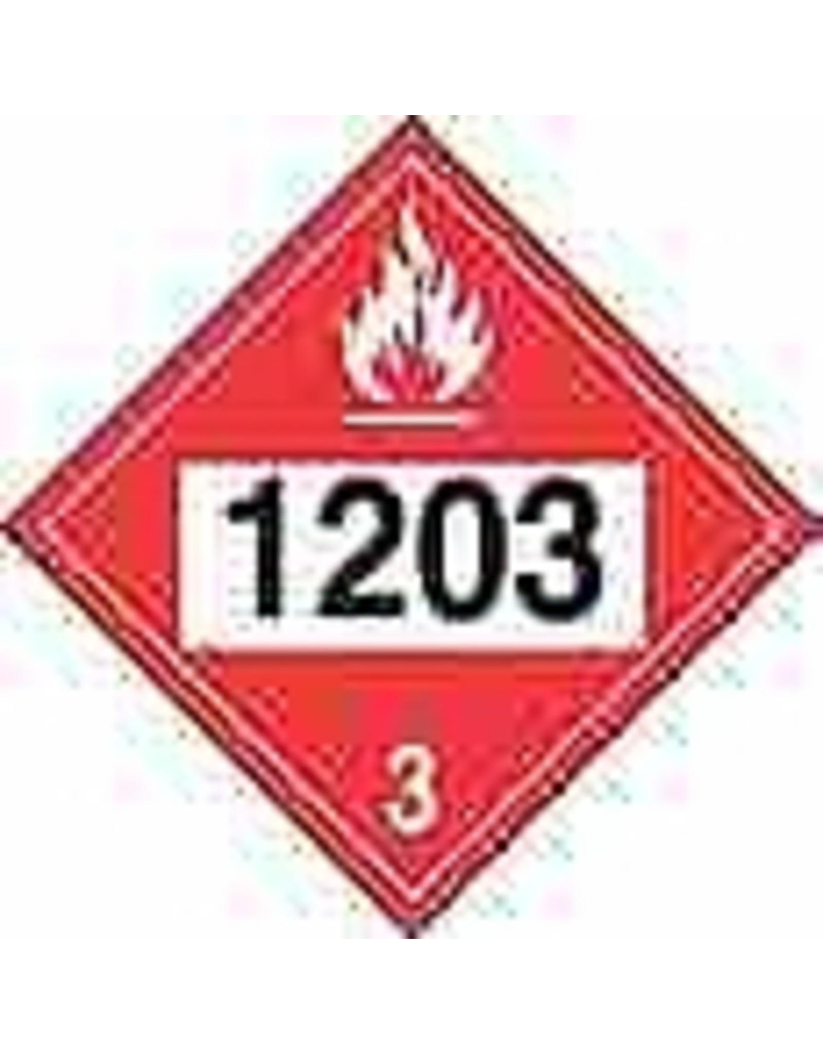 1203 (Gasoline) Placard - Plastic