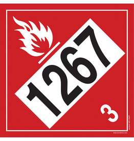 1267 (Crude Oil) Placard - Plastic