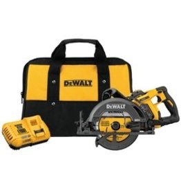 60V MAX FLEXVOLT 7-1/4'' Worm Drive Style Saw Kit w/ 1 Battery (9Ah), Charger and Bag