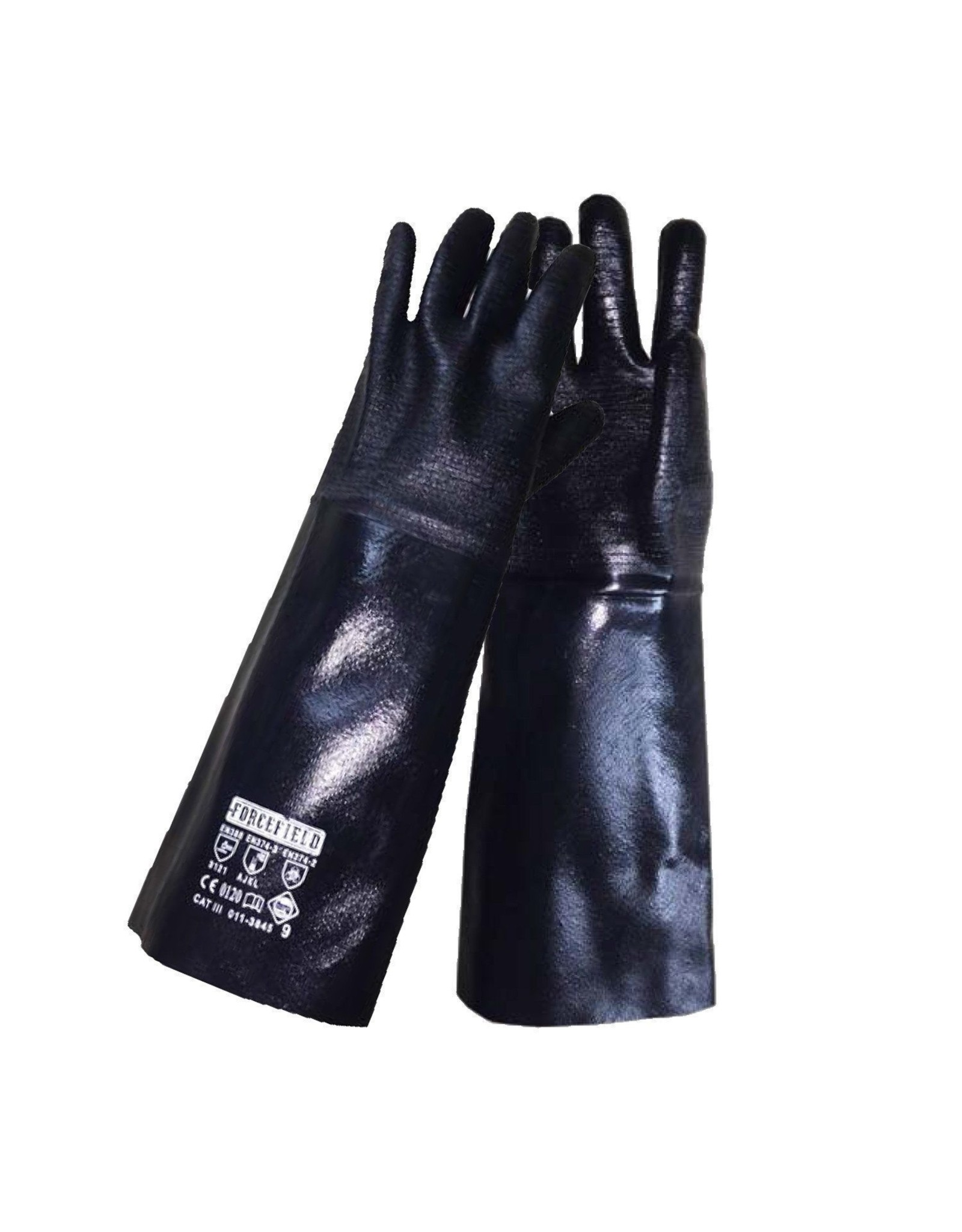 18'' Neoprene Gauntlet, Chemical Resistant gloves size medium