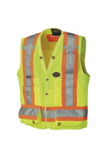 Hi-Viz Surveyor's Safety Vest 150D Yellow/Green
