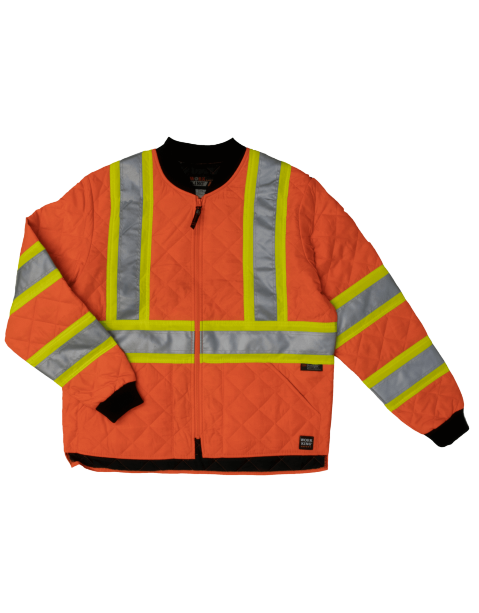 Work King Orange Quilted Safety Jacket
