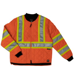 Work King Orange Quilted Safety Jacket