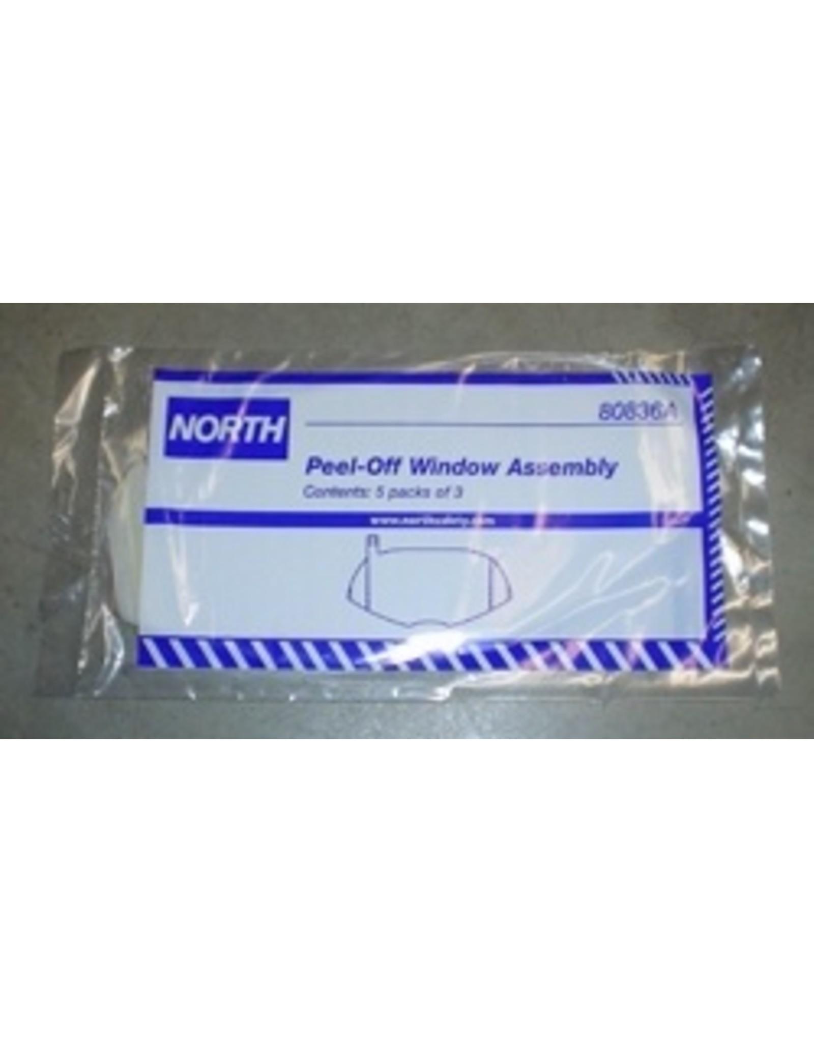 North 7600 Series Full Face Peel Away Windows. Pack of 15..