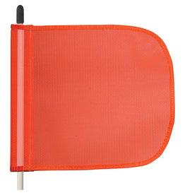 "5' Heavy Duty Fiberglas Whip, non Powered , Orange Pennant Flag(12""wX9""ah)"
