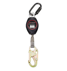 Single Leg SRD with (1) carabiner FP244 and (1) snap hook FP6650HS 7ft self retracting lanyard