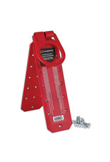 Reusable roof anchor with screws.