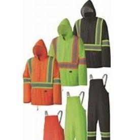 Lightweight Poly/PVC Safety Rain Suit