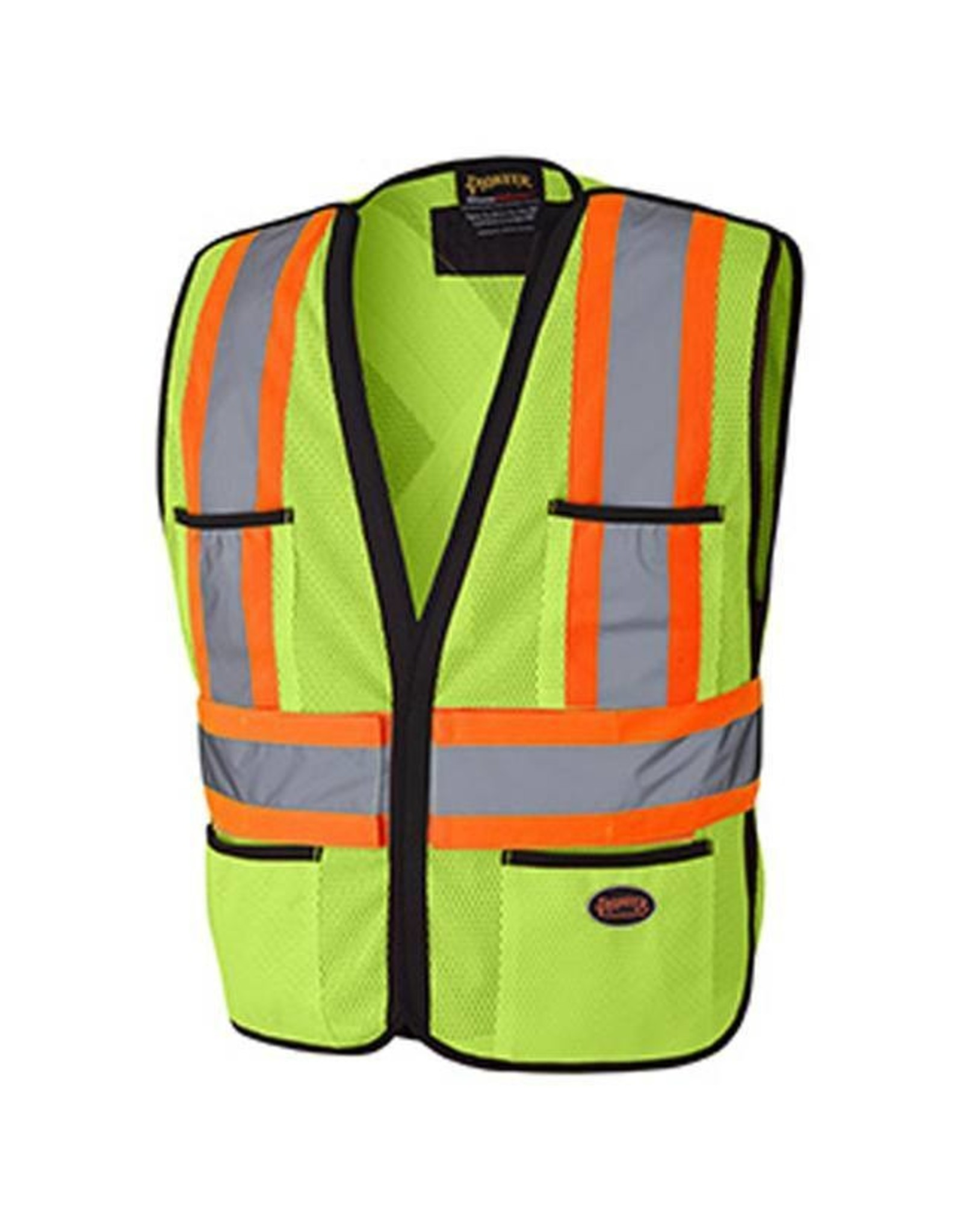 Poly Mesh 5 Pt Tearaway Vest, Lime O/S