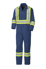 Safety Poly/Cotton Coverall Navy  Class 1 Level 2
