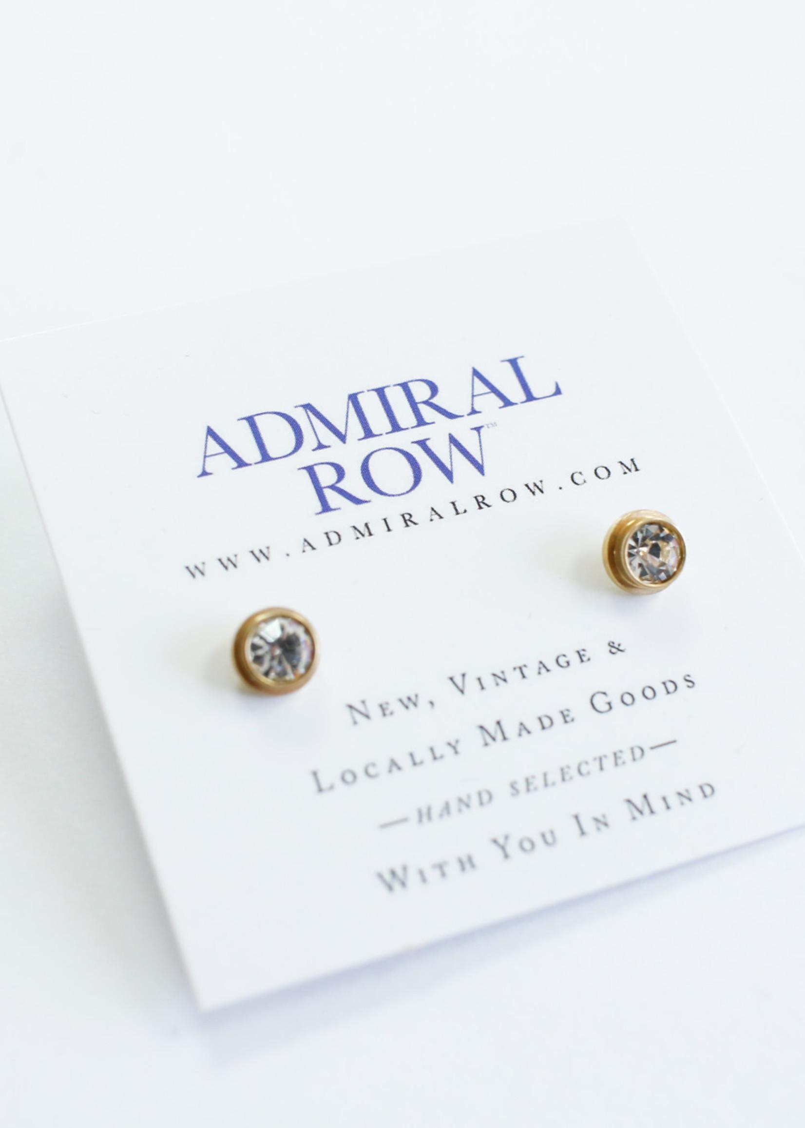 Admiral Row gold cz stud earrings