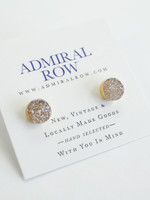 Admiral Row Champagne druzy stud earrings