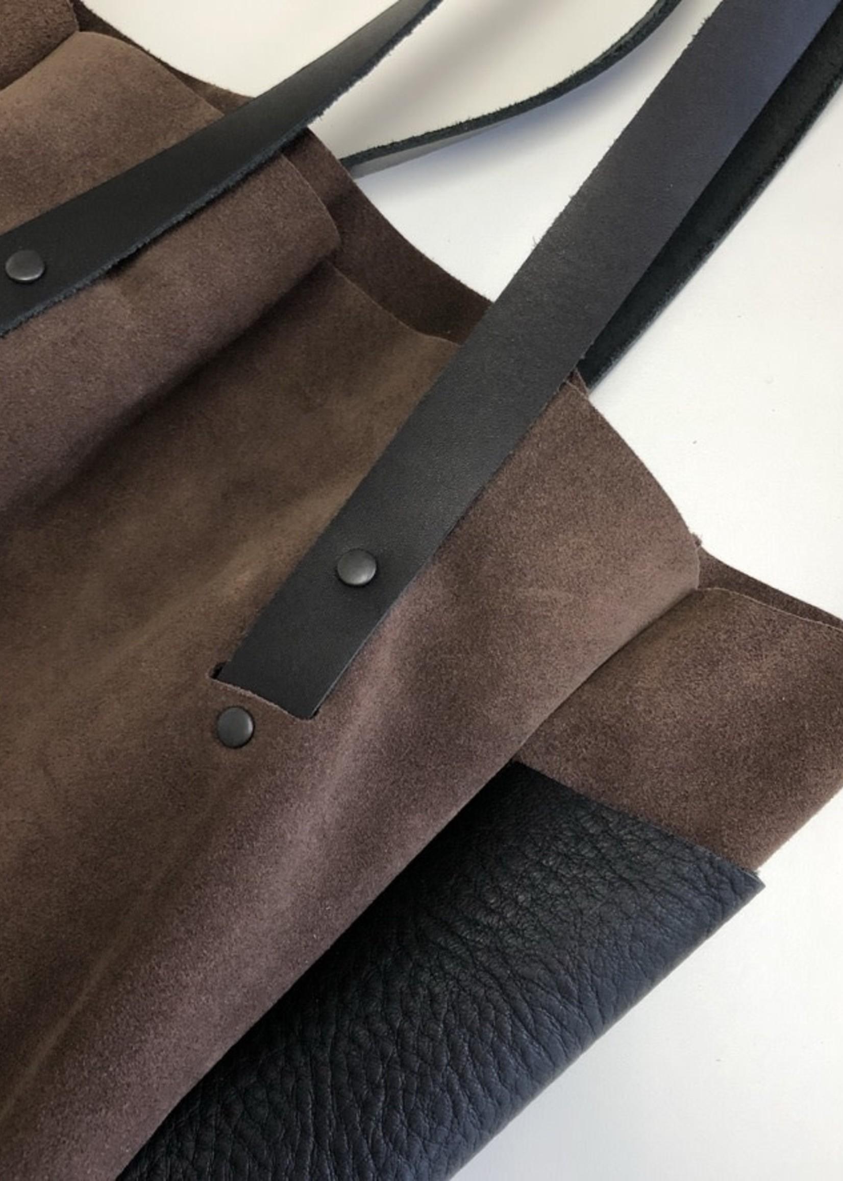 Scabby Robot Suede Breve Handbag Tall