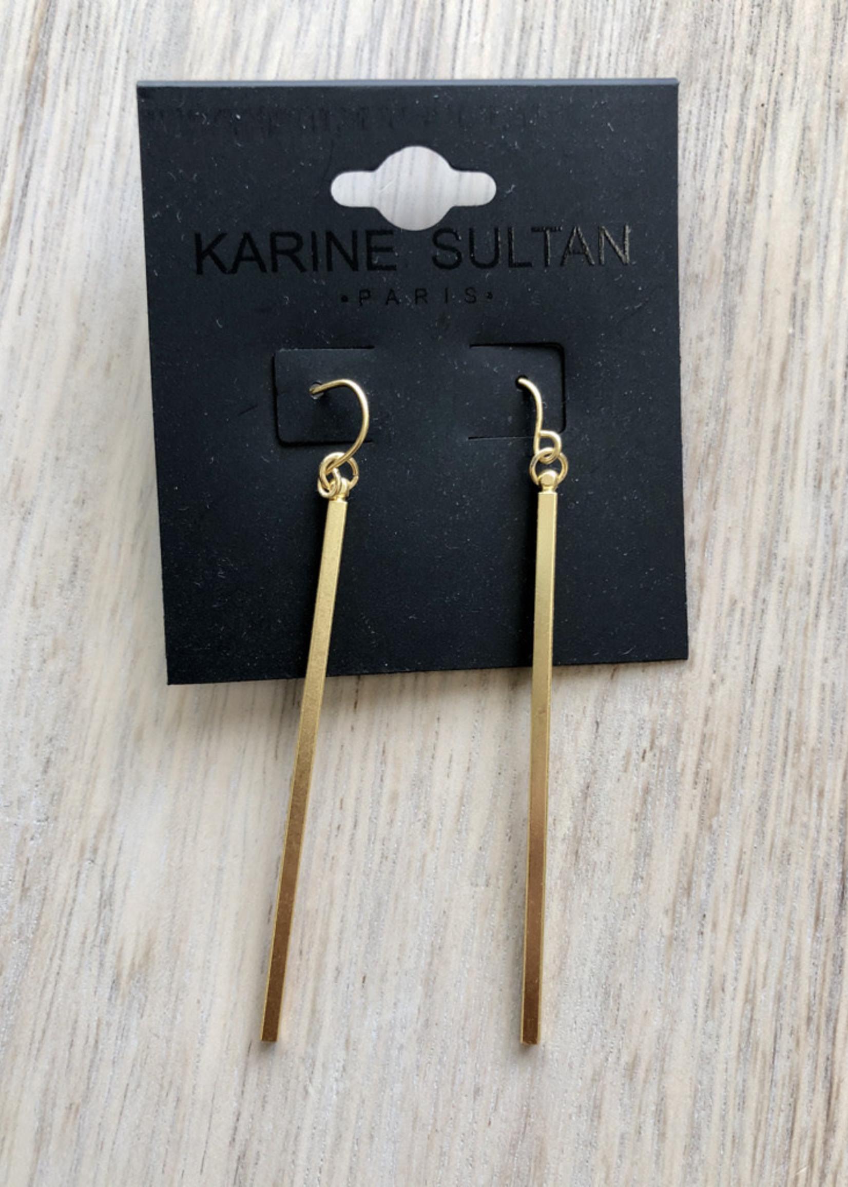 Minimalist Bar Drop Earring