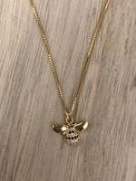 Admiral Row gold pave bee necklace