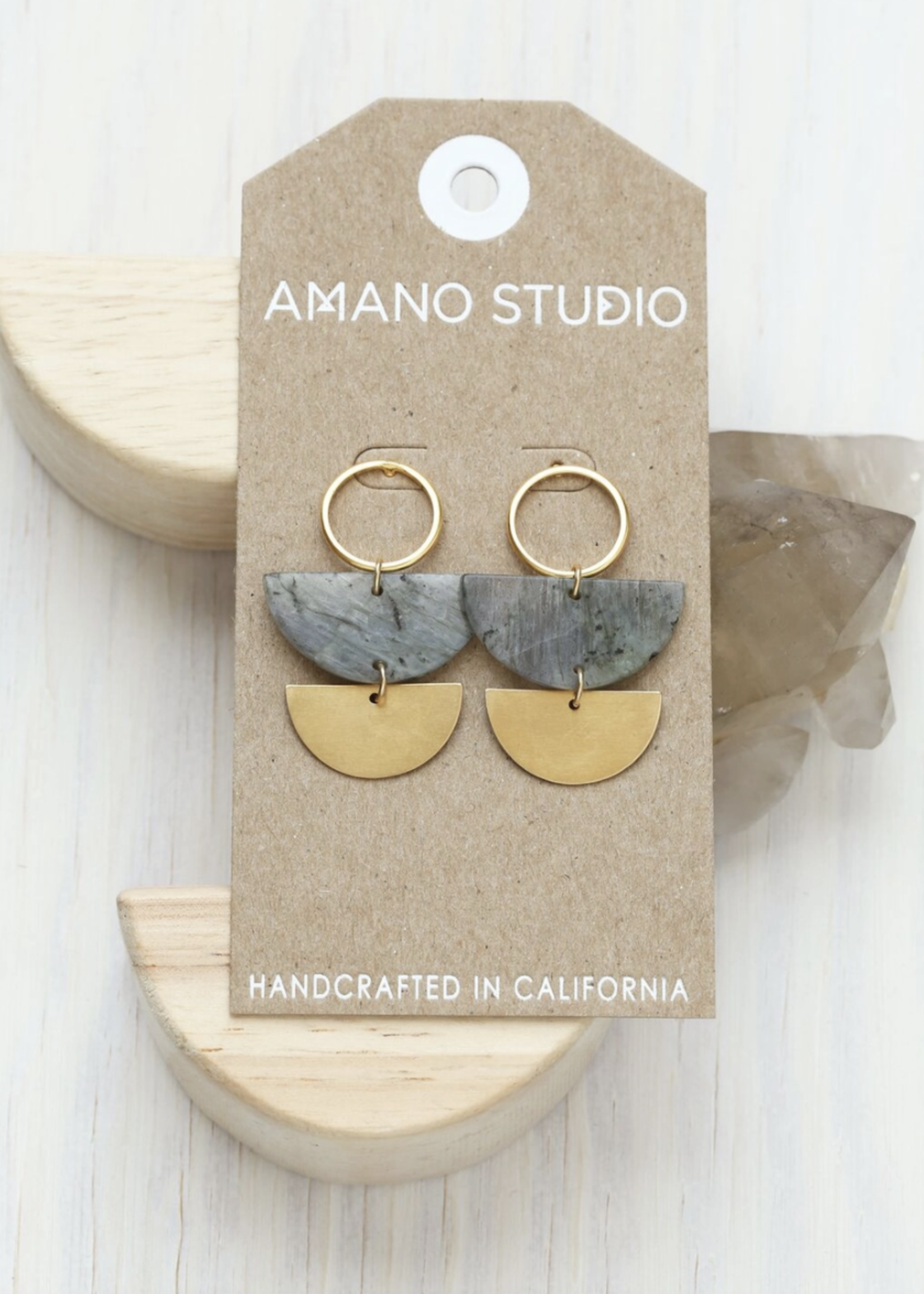 Amano Studio Lunar Labradorite Studs