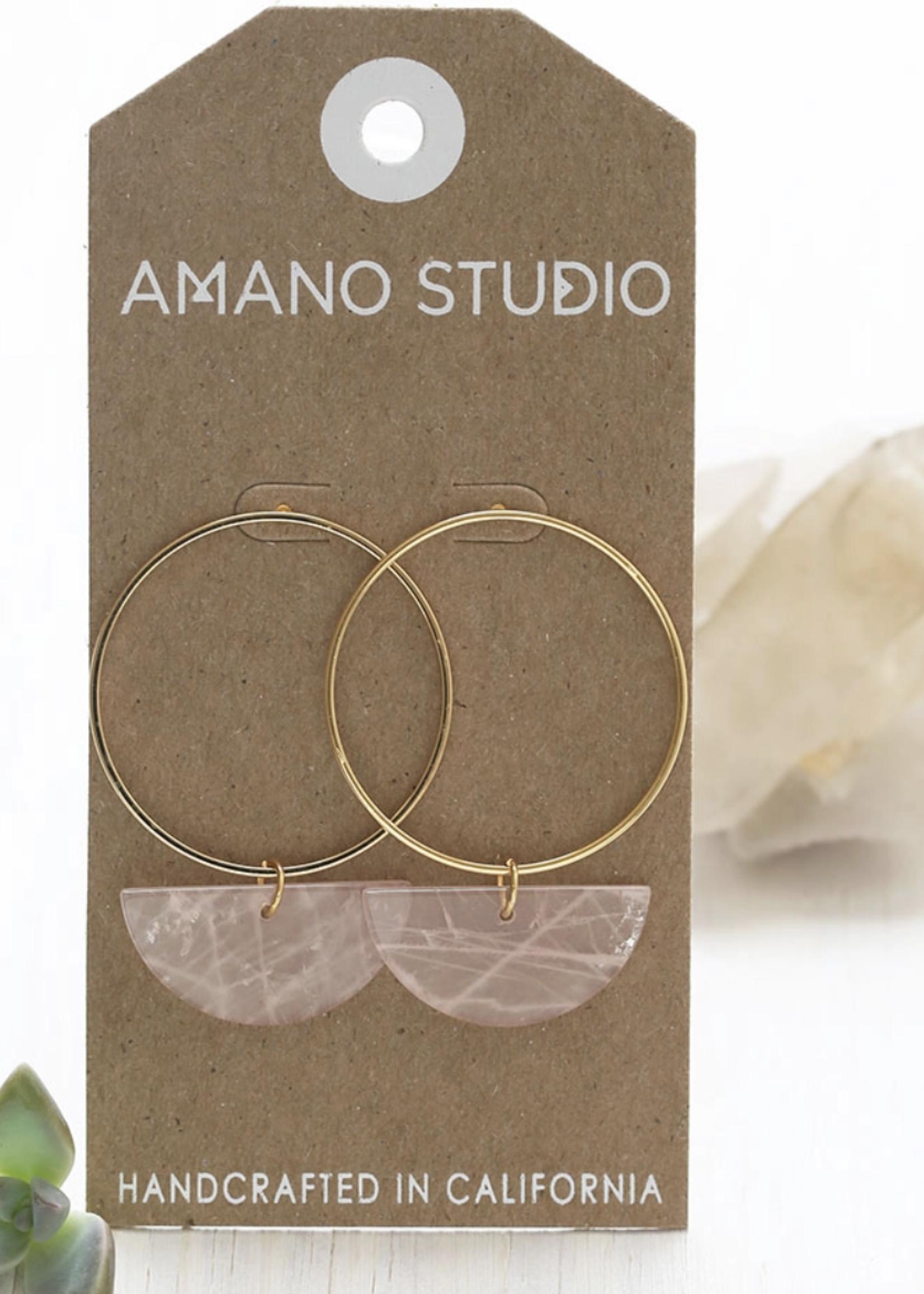Amano Studio Sun and Moon Stud Earrings