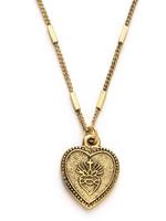 Amano Studio Sacred Heart Medallion Necklace