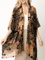 Mystree Velvet print kimono OS