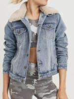 Mono B Denim Jacket Detachable Collar