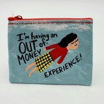 Blue Q Out of Money Coin Purse