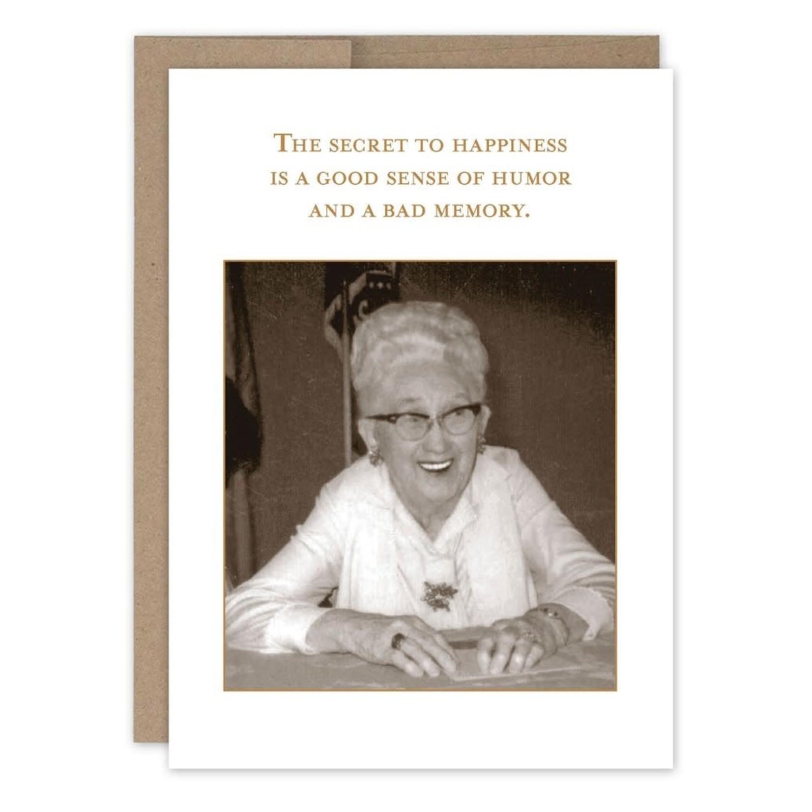 Shannon Martin Secret to Happiness Birthday Card