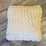Chunky Knit Pillow Taupe