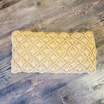 Crochet Pillow, Tan