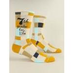 Blue Q 7th Grader for Life - M - Crew Socks