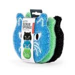 Kikkerland Cat Sponges Set of 3