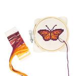 Kikkerland Crossstitch Embroidery Kit  Butterfly