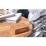 Ginko Design Flip Clock Walnut