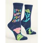 Blue Q Love Who - Love You  - W-Crew Socks