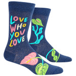 Blue Q Love Who - Love You - M - Crew Socks