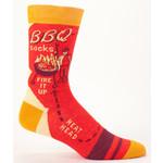 Blue Q BBQ M-Crew Socks
